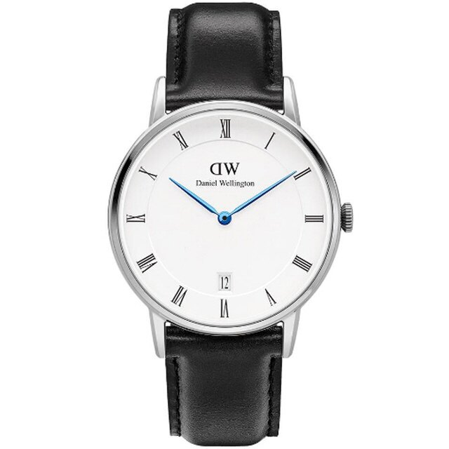 【 貨】Daniel Wellington DW 瑞典簡約風格 34mm   黑色  銀框