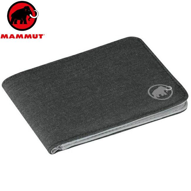 Mammut 長毛象 拉鍊錢包/皮夾/短夾/財布 Flap wallet melange 2520-00710 0001質感黑
