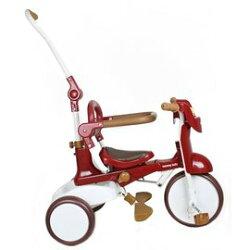 DEDE BABY 兒童折疊三輪車(折疊款-紅色)【類iimo】雨傘另購590元【紫貝殼】