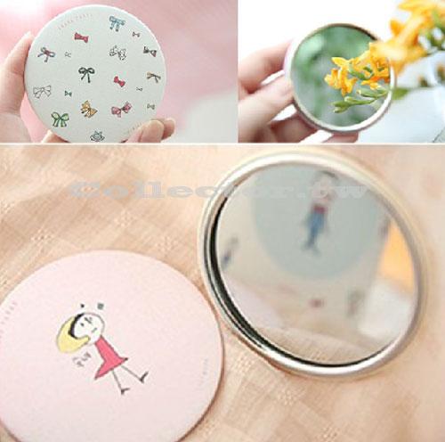 【J14031401】韓國 甜美可愛小鏡子 手繪創意鏡 化妝鏡 隨身鏡