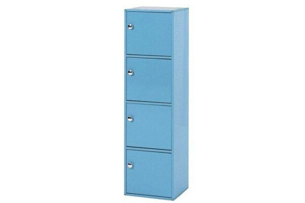 【石川家居】927-14藍色置物櫃(CT-846)#訂製預購款式#環保塑鋼P無毒防霉易清潔
