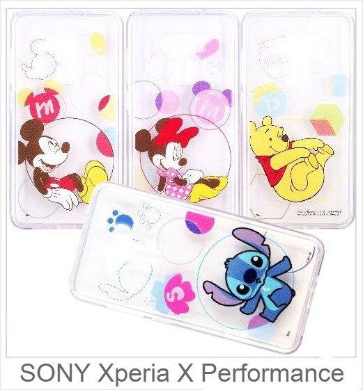 SONY Xperia X Performance 迪士尼 字母泡泡系列 軟膠透明殼 彩繪手機殼 保護殼 手機套 透明殼 軟殼 殼