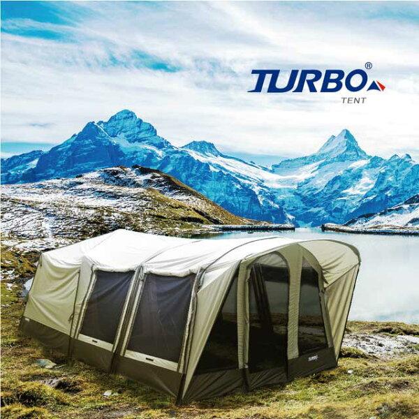 【TurboTent】Lodge360六腳快速帳(豪華兩房一廳巨蛋網屋空間)