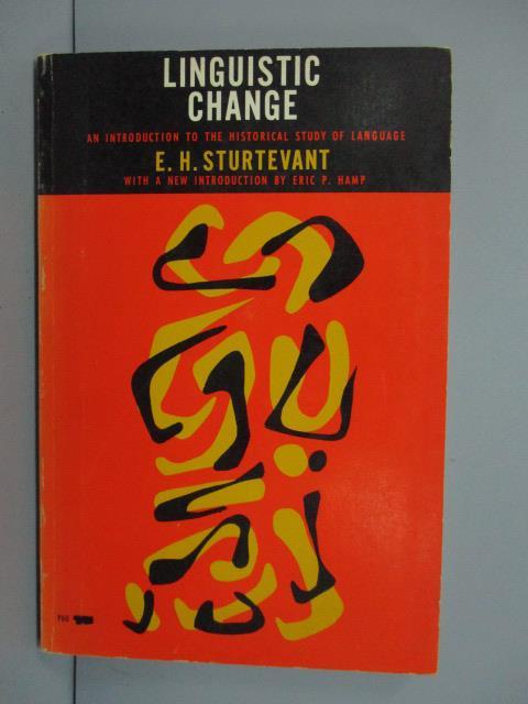 【書寶二手書T1/原文書_MRD】Linguistic change_1917