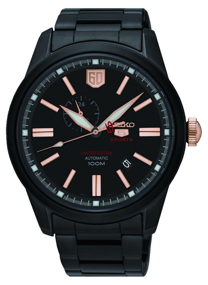 SEIKO 精工 5號盾牌60週年限定版機械錶 騎士黑 4R37-01G0K(SSA317J1) 44mm