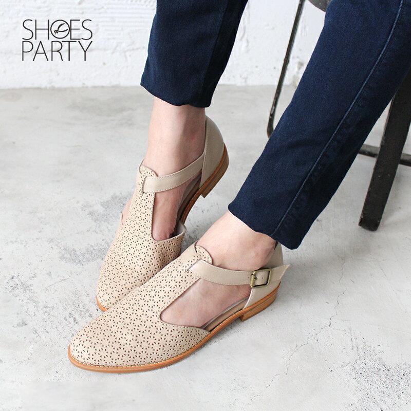 【S2-19328L】外尖內圓T字牛津鞋_Shoes Party 2
