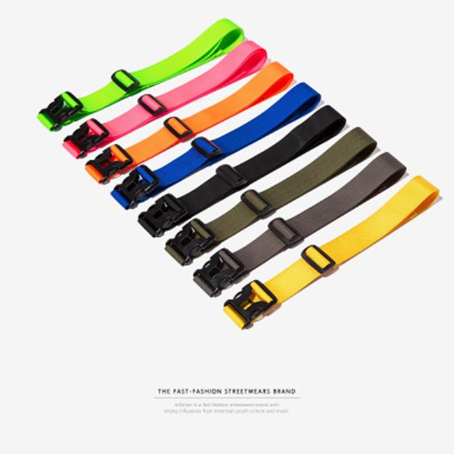 50%OFF SHOP潮牌簡約純色休閒百搭男式插扣腰帶多功能腰包帶裝飾配件(8色)【N030067LB】