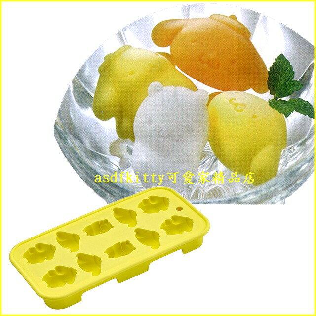 asdfkitty可愛家☆布丁狗10連矽膠模型 製冰盒-做巧克力-手工皂-冰塊-果凍.蛋糕.日本正版商品