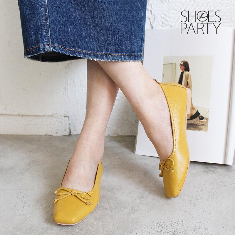 【F2-18910L】氣質小方頭芭蕾舞鞋_Shoes Party 2
