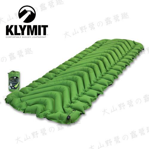 【露營趣】中和安坑 Klymit 06SVGR01C 輕量級V型空氣墊 Static V 吹氣款充氣睡墊 保暖空氣睡墊 露營睡墊 空氣墊 充氣墊