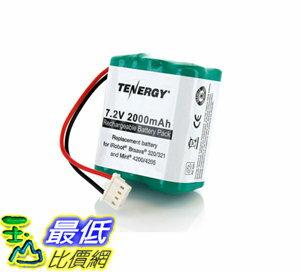 [107美國直購] 替換電池 Tenergy 7.2V 2000mAh Replacement Battery for iRobot Braava 320/321 & Mint 4200/4205