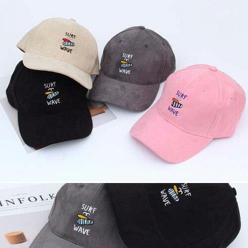 棒球帽 素色 圖騰 麂皮絨 遮陽帽 鴨舌帽~QI8572~ BOBI 1 05