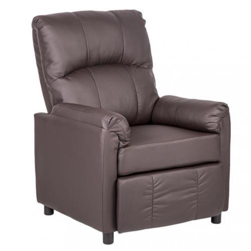 Leather Single Arm Recliner Chair Sofa - Brown 1c2f24163ccdfa7c9f96f293d58405a1