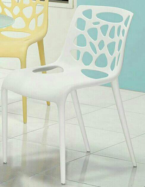 【新生活家具】 休閒椅 洞洞椅 餐椅 北歐風 白色 造型椅 簍空泡泡椅 洽談椅 蒂爾 非 H&D ikea 宜家