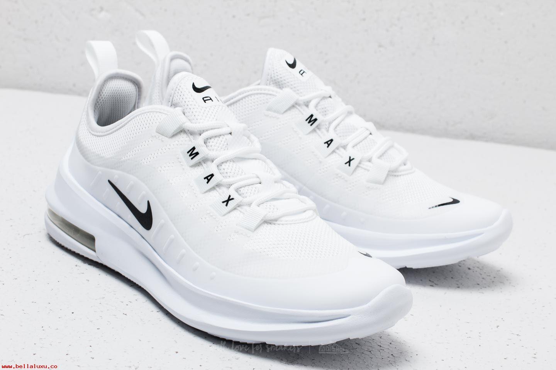 KUMO SHOES-現貨 NIKE AIR MAX AXIS GS 全白 黑勾 仙女鞋 增高 小白鞋 氣墊 女鞋 AH5222-100