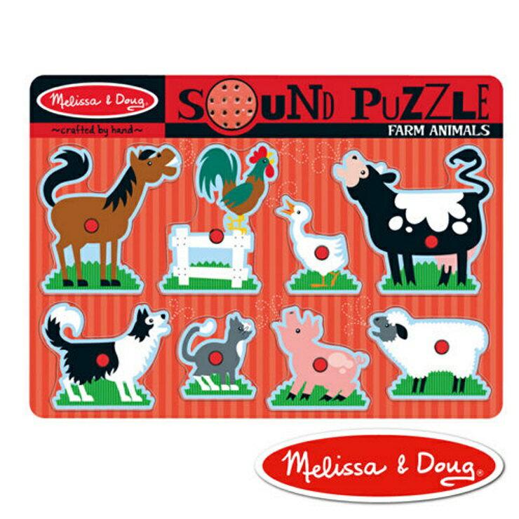【寶貝樂園】美國瑪莉莎 Melissa & Doug聲音拼圖 農場動物