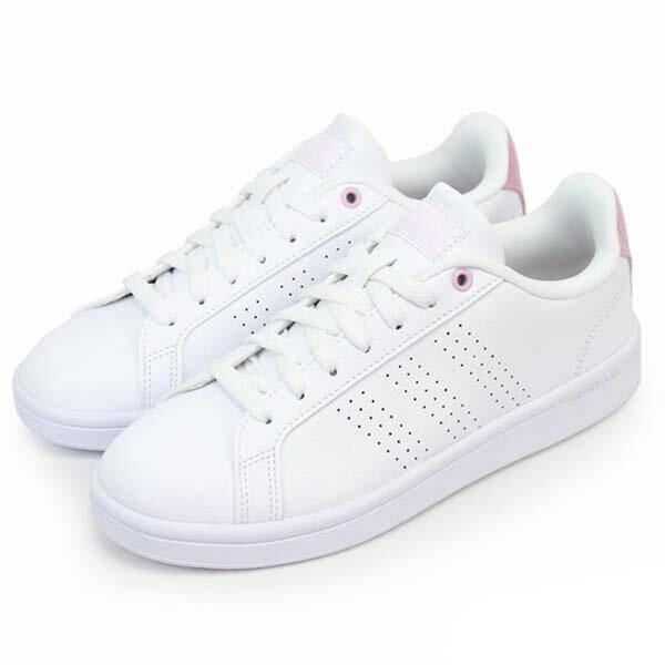 【ADIDAS】CF ADVANTAGE CL W 休閒鞋 NEO 白 粉 女鞋 -DB0893