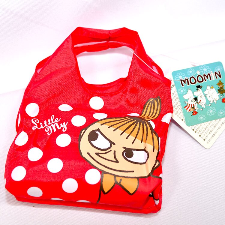 MOOMIN 嚕嚕米 小不點亞美 環保購物袋附收納包 日本帶回