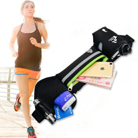 ♚MY COLOR♚多功能運動腰包 跑步 防水 健身 戶外 水壺 手機 收納 攜帶 耳機 腰帶 輕便【N179】