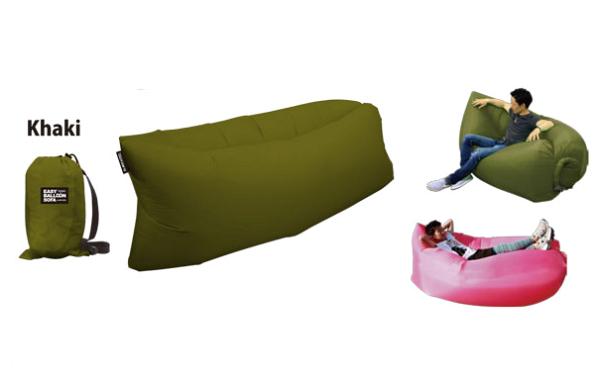 百倉日本舖:【百倉日本舖】日本進口TOYSOFA攜帶式沙發折疊式沙發-軍綠色