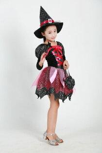 小朋友萬聖節化妝舞會服裝角色扮演43(送魔法棒+魔法帽+提袋)