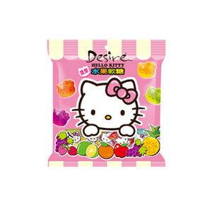乖乖 Desire Hello Kitty 造型水果軟糖經濟包-綜合水果口味 140g