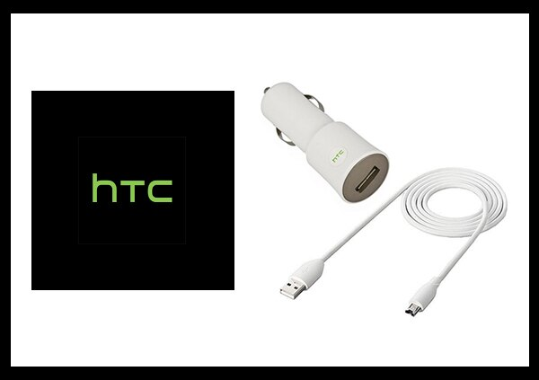 HTC CC C120 原廠車用充電器+傳輸線組 (密封袋裝)