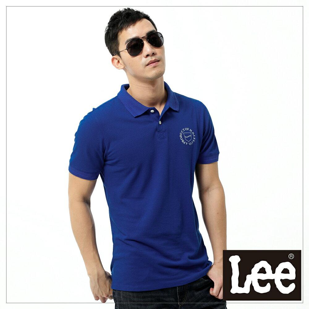 Lee 短袖POLO衫-藍