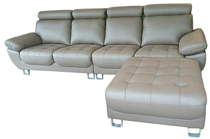 【尚品傢俱】846-01 喬登 半牛皮獨立筒 L型沙發~另有同款式1+2+3沙發組/會客沙發