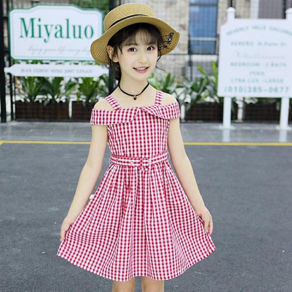 童裝女童連身裙夏裝2019夏款韓版中大童小女孩子格子裙子公主裙歐歐歐流行館