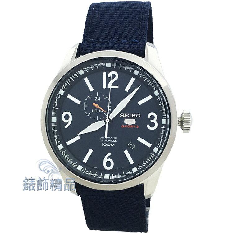 【錶飾精品】SEIKO手錶 精工表 SSA301K1 SPORTS 5號鏤空手自動上鍊機械帆布藍面男錶 全新原廠正品