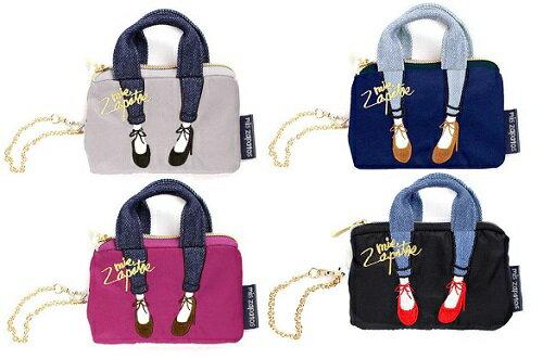 【百倉日本舖】日本進口mis zapatos高跟鞋刺繡零錢包/伸縮票卡包