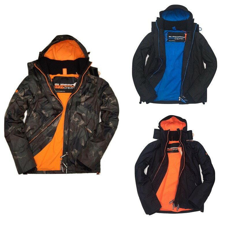 Superdry 極度乾燥外套 男款 內刷毛三拉鍊連帽夾克 防風防潑水 3色 英國正品現貨 0