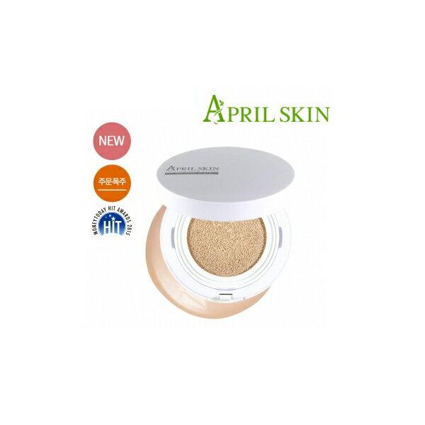 韓國 April Skin 天然魔法石氣墊粉餅 白盒