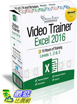 [7美國直購] 2018 amazon 亞馬遜暢銷軟體 Excel 2016 Training Videos – 15 Hours of Excel 2016 training by Microsof