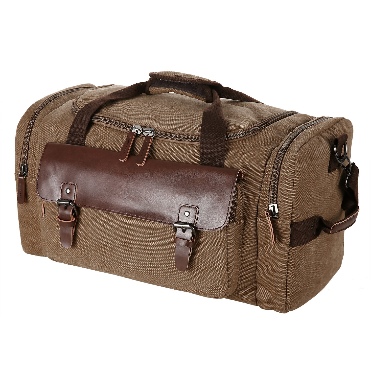 Canvas Duffle Bag Oversized Travel Tote Luggage with Shoulder Strap 1