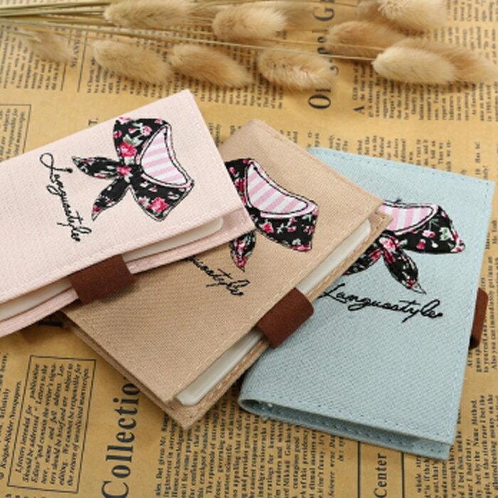 Anne&Alice包包購 ~新品花漾領結精緻20卡卡包信用卡夾名片包~