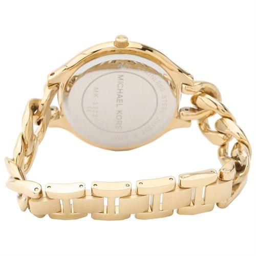 Michael Kors Slim Runaway Japanese Quartz Gold Dial Women's Watch - MK3222 2