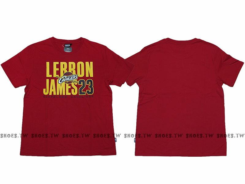 《限時5折》Shoestw【8730260-011】NBA T恤 棉 克里夫蘭 騎士隊 LEBRON JAMES 23 名字 紅色【SS感恩加碼 | 單筆滿1000元結帳輸入序號『SSthanks10..