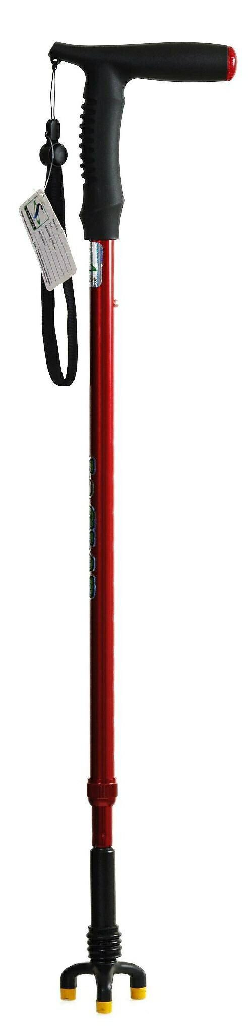 【拐杖 台灣製造】全方位手杖 ATS-735S 紅/銀 兩種顏色(台灣製造)