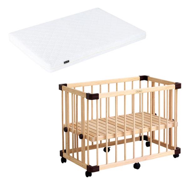 日本 farska 溫婉木質多功能嬰兒床(小)+airclean 3D透氣輕洗二用式床墊-小