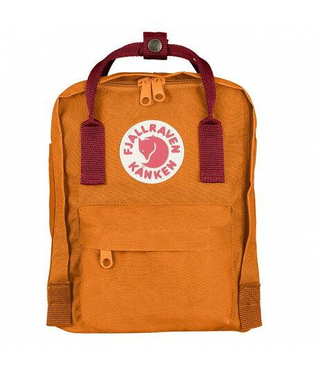 ├登山樂┤瑞典Fjallraven Kanken Mini 復古後背包 方型書包-焦橘/深紅 # F23561-212325