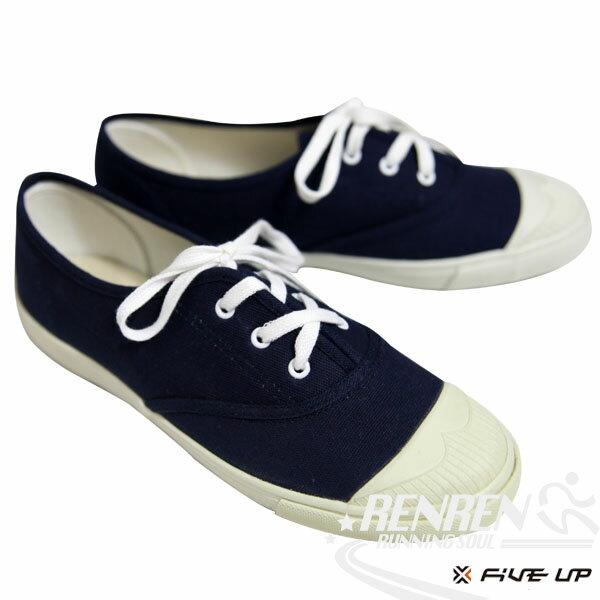 FIVEUP女簡約質感休閒帆布鞋(丈青)2512200380【胖媛的店】
