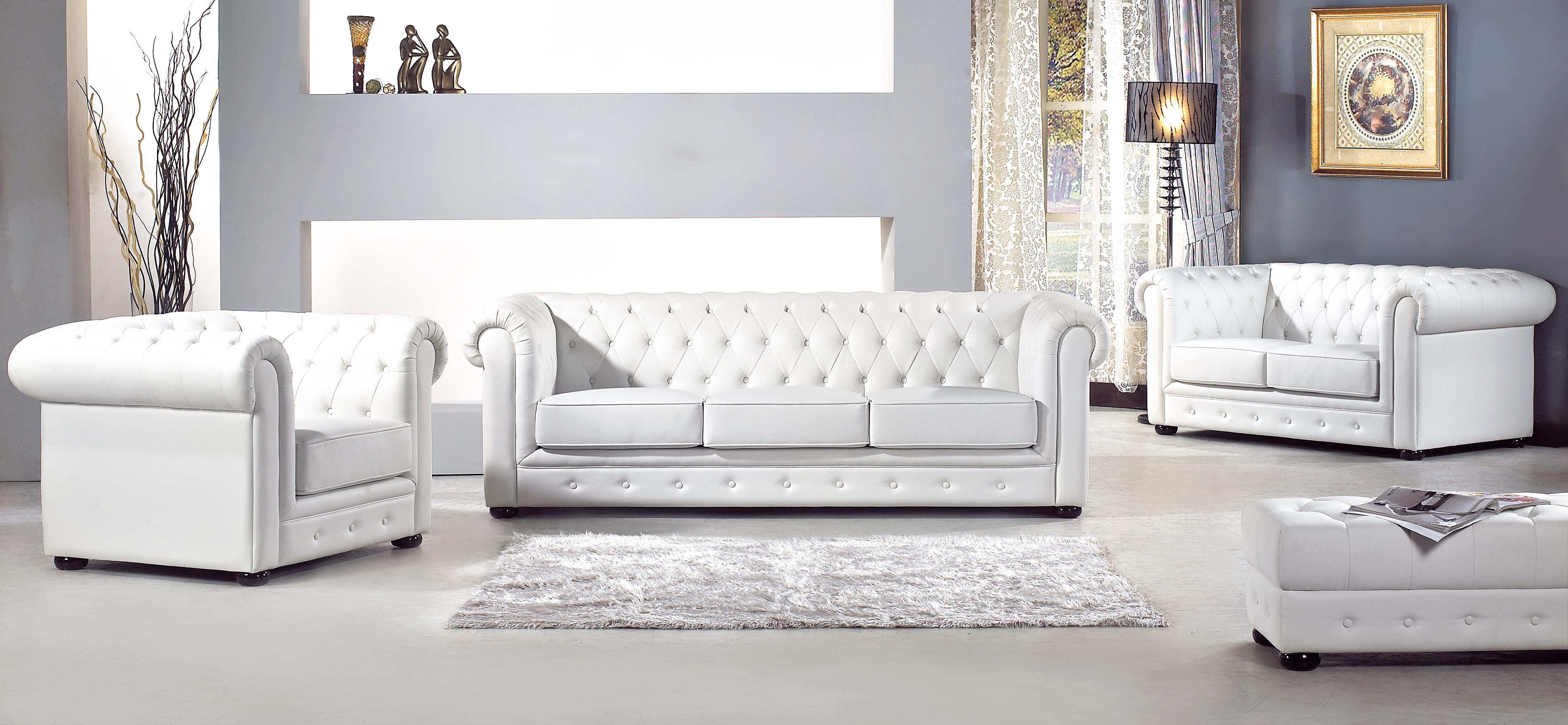 古典白沙發組