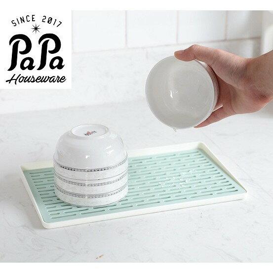PaPa家居~愛家好收納  多用長方形客廳廚房雙層塑料水杯碗瀝水盤杯架瀝水架雙層瀝水盤