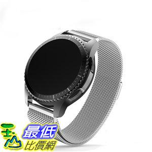 [106玉山最低比價網] 三星gear S3錶帶 銀色 Classic R732錶帶不銹鋼金屬米蘭先鋒運動款