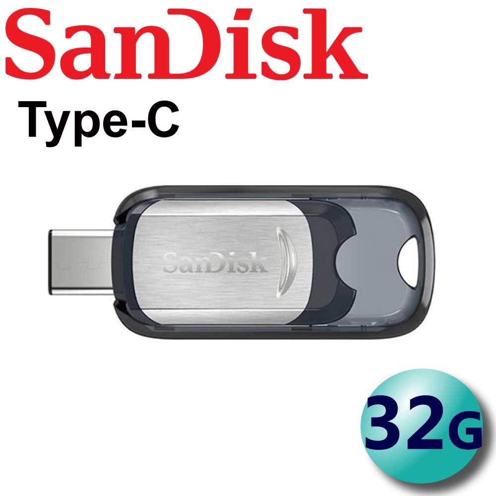 【公司貨】SanDisk 32GB 32G 150MB/s Ultra CZ450 USB Type-C 隨身碟