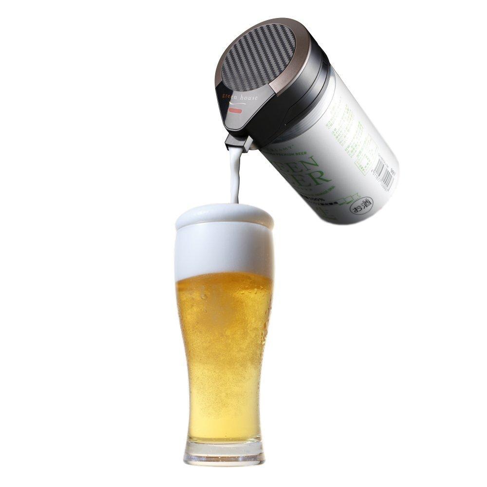 日本必買 GreenHouse【GH-BEERM】啤酒發泡器 乾電池 啤酒 罐裝 夏日 派對 2018年 新款