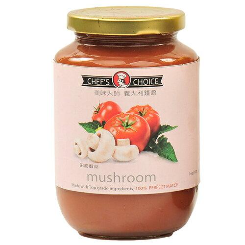 美味大師義大利麵醬-田園蘑菇470G/瓶【愛買】