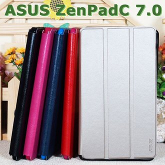 【冰河】華碩 ASUS ZenPad C 7.0 Z170C P01Z/Z170CG P01Y 專用平板側掀皮套/翻頁式保護套/斜立展示